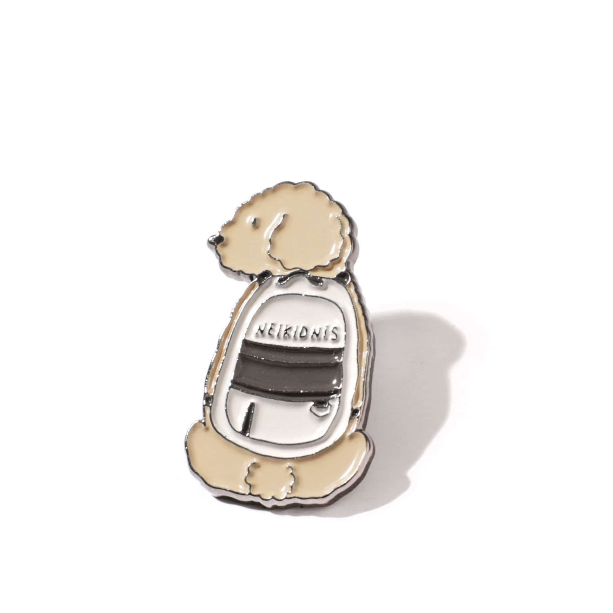 PUPPY BAG PIN / BEIGE