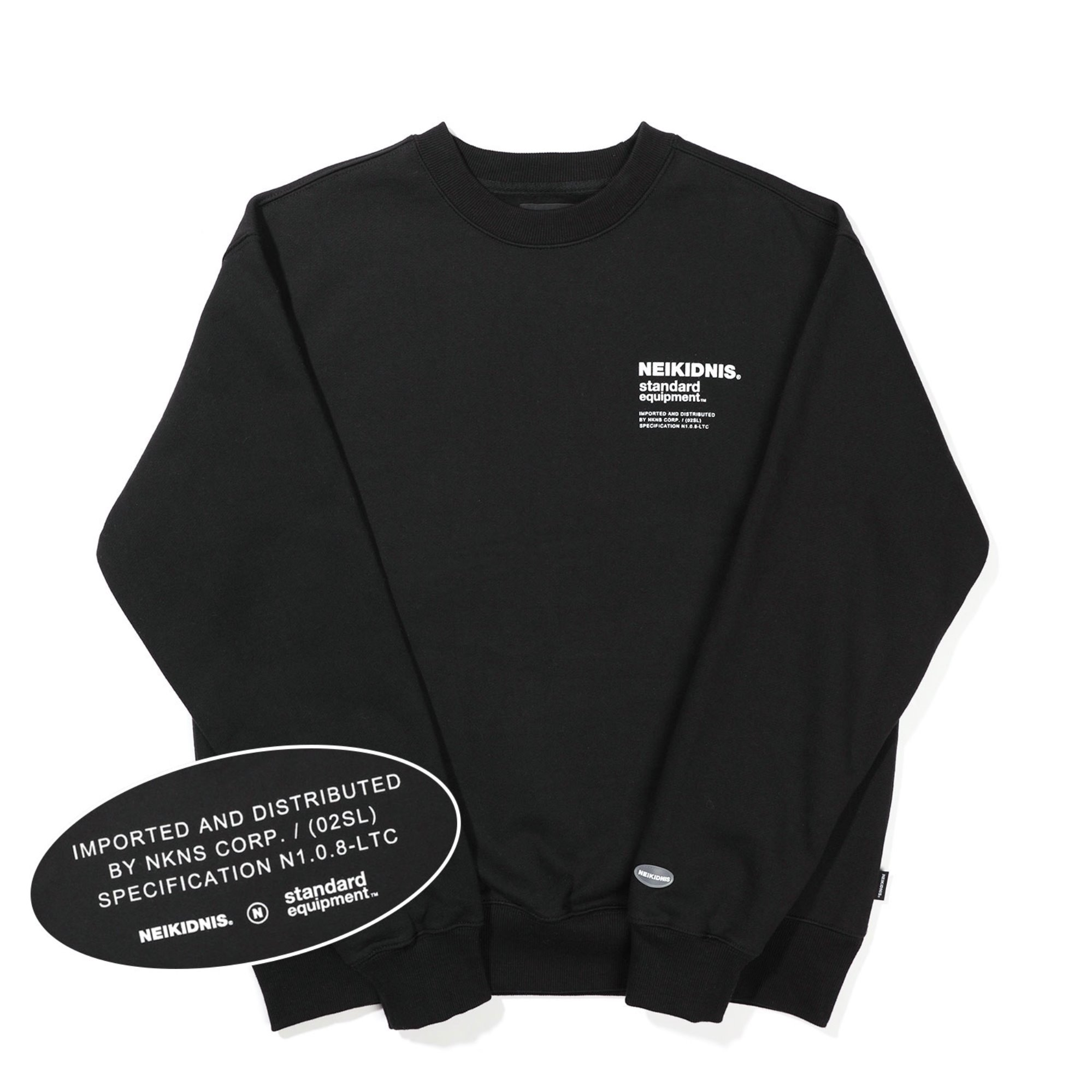 [기모] SPEC LOGO SWEAT SHIRT / BLACK