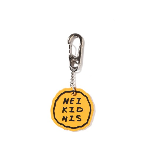 CAKE LOGO RUBBER KEY RING / YELLOW